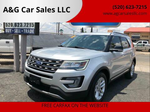 2017 Ford Explorer for sale at A&G Car Sales  LLC in Tucson AZ