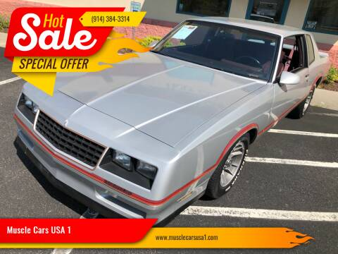 1986 Chevrolet Monte Carlo for sale at Muscle Cars USA 1 in Murrells Inlet SC
