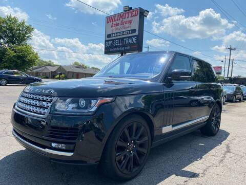 2017 Land Rover Range Rover for sale at Unlimited Auto Group in West Chester OH