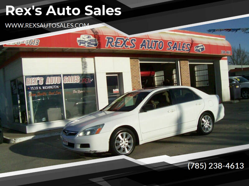 2006 Honda Accord for sale at Rex's Auto Sales in Junction City KS