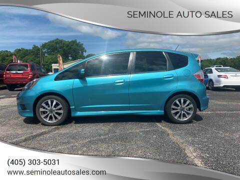 2012 Honda Fit for sale at Seminole Auto Sales in Seminole OK