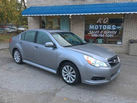 2010 Subaru Legacy for sale at K O Motors in Akron OH