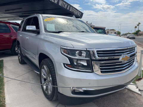 2015 Chevrolet Tahoe for sale at DESANTIAGO AUTO SALES in Yuma AZ