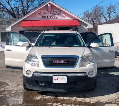 2010 GMC Acadia for sale at PAUL'S PAINT & BODY SHOP in Des Moines IA