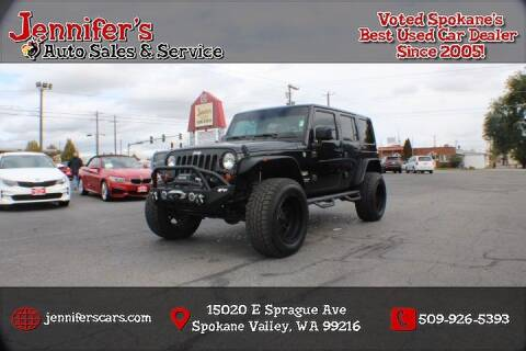 2012 Jeep Wrangler Unlimited for sale at Jennifer's Auto Sales in Spokane Valley WA
