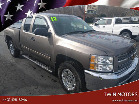 2012 Chevrolet Silverado 1500 for sale at TWIN MOTORS in Madison OH