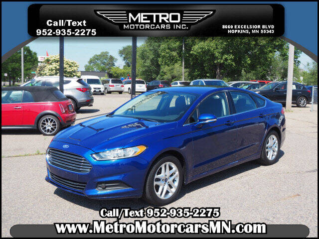 2013 Ford Fusion for sale at Metro Motorcars Inc in Hopkins MN