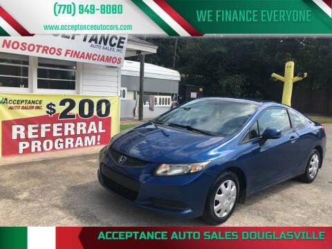 2013 Honda Civic for sale at Acceptance Auto Sales Douglasville in Douglasville GA