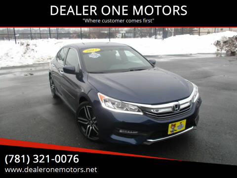 2017 Honda Accord for sale at DEALER ONE MOTORS in Malden MA
