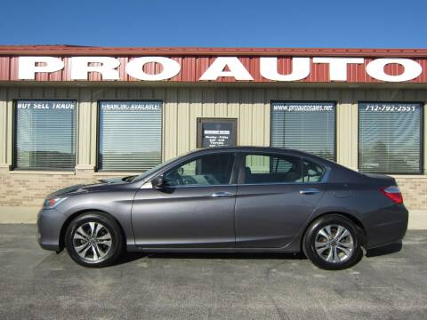 2015 Honda Accord for sale at Pro Auto Sales in Carroll IA