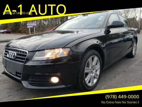 2009 Audi A4 for sale at A-1 Auto in Pepperell MA