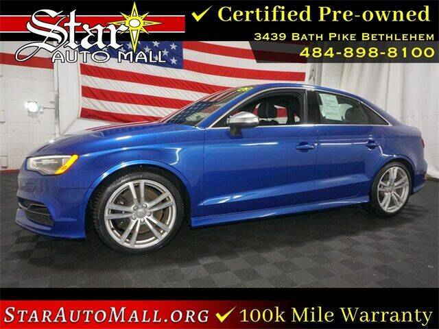 2016 Audi S3 for sale at STAR AUTO MALL 512 in Bethlehem PA