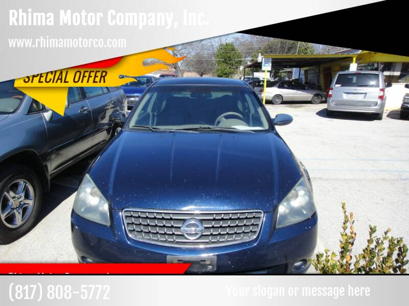 2006 Nissan Altima for sale at Rhima Motor Company, Inc. in Haltom City TX