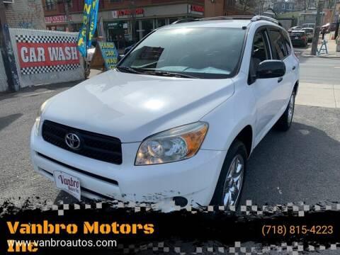 2008 Toyota RAV4 for sale at Vanbro Motors Inc in Staten Island NY