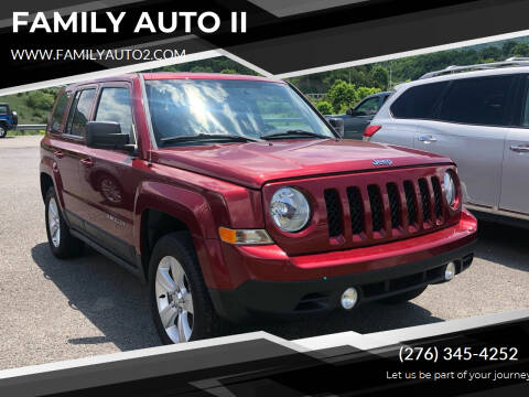 2015 Jeep Patriot for sale at FAMILY AUTO II in Pounding Mill VA