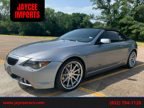 2007 BMW 6 Series for sale at JAYCEE IMPORTS in Houston TX