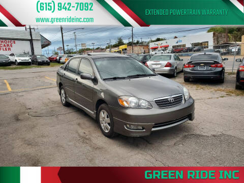 2005 Toyota Corolla for sale at Green Ride Inc in Nashville TN