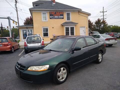 1999 Honda Accord for sale at Top Gear Motors in Winchester VA