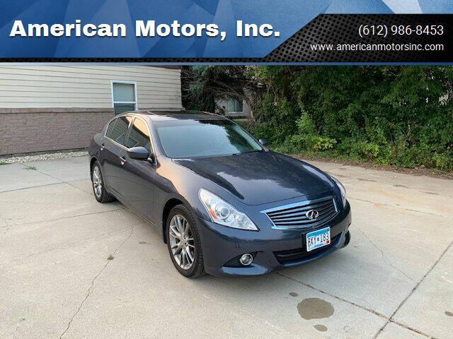 2012 Infiniti G37 Sedan for sale at American Motors, Inc. in Farmington MN