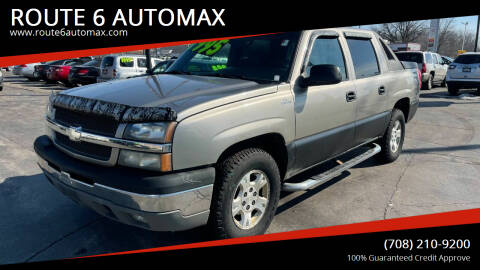 2003 Chevrolet Avalanche for sale at ROUTE 6 AUTOMAX - THE AUTO EXCHANGE in Harvey IL