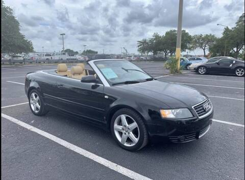 2005 Audi A4 for sale at Out Run Automotive Sales and Service Inc in Tampa FL