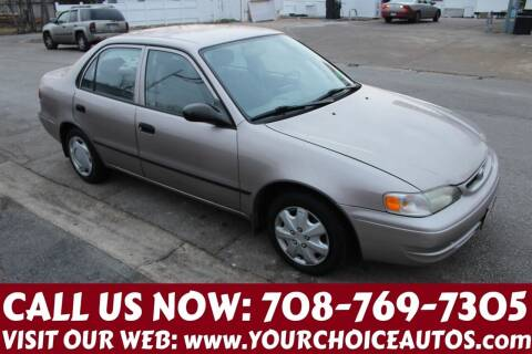 2000 Toyota Corolla for sale at Your Choice Autos in Posen IL