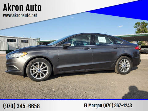 2017 Ford Fusion for sale at Akron Auto in Akron CO