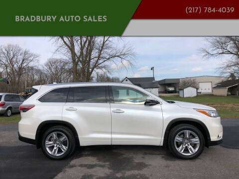 2016 Toyota Highlander for sale at BRADBURY AUTO SALES in Gibson City IL
