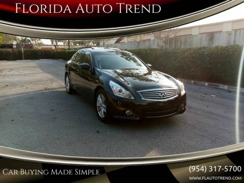 2013 Infiniti G37 Sedan for sale at Florida Auto Trend in Plantation FL