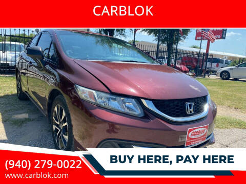 2014 Honda Civic for sale at CARBLOK in Lewisville TX