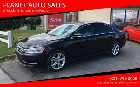 2015 Volkswagen Passat for sale at PLANET AUTO SALES in Lindon UT