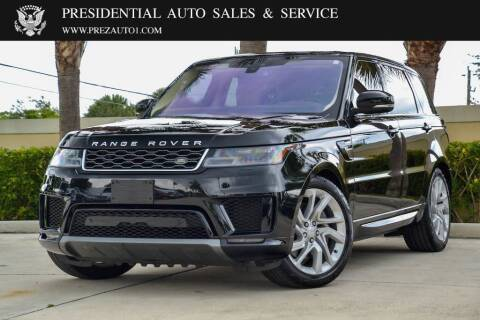 2018 Land Rover Range Rover Sport for sale at Presidential Auto  Sales & Service in Delray Beach FL