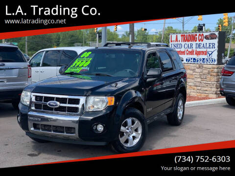 2008 Ford Escape for sale at L.A. Trading Co. in Woodhaven MI