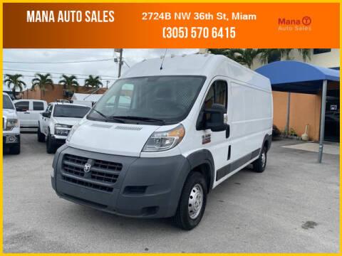 2016 RAM ProMaster Cargo for sale at MANA AUTO SALES in Miami FL