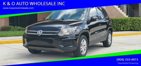 2014 Volkswagen Tiguan for sale at K & O AUTO WHOLESALE INC in Jacksonville FL