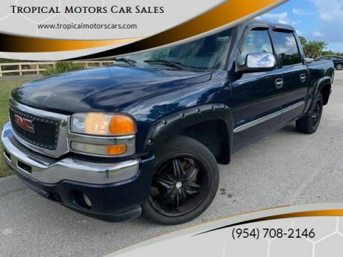2006 GMC Sierra 1500 for sale at Tropical Motors Car Sales in Deerfield Beach FL