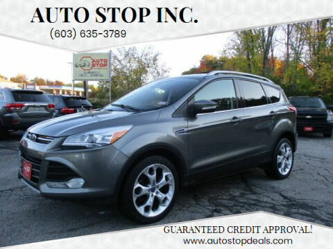 2013 Ford Escape for sale at AUTO STOP INC. in Pelham NH