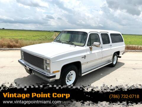 1987 Chevrolet Suburban for sale at Vintage Point Corp in Miami FL