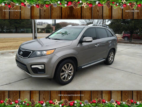 2013 Kia Sorento for sale at Solo Auto Group in Mckinney TX
