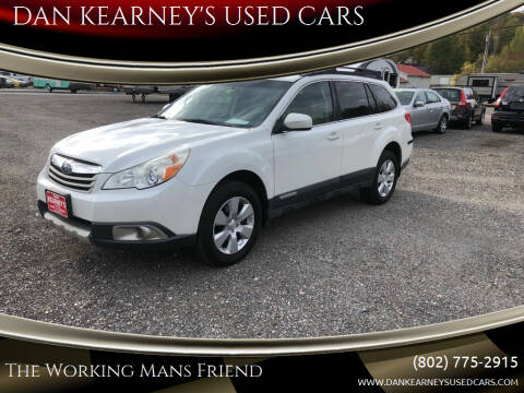 2012 Subaru Outback for sale at DAN KEARNEY'S USED CARS in Center Rutland VT
