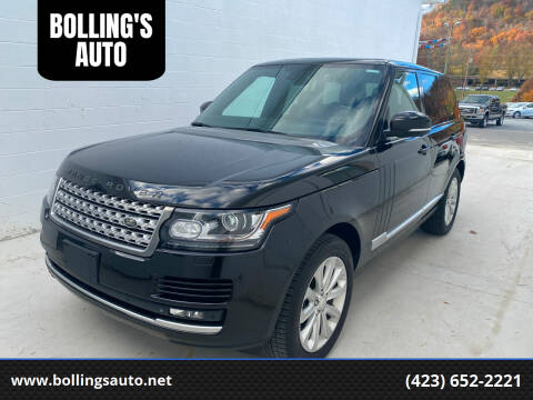 2014 Land Rover Range Rover for sale at BOLLING'S AUTO in Bristol TN