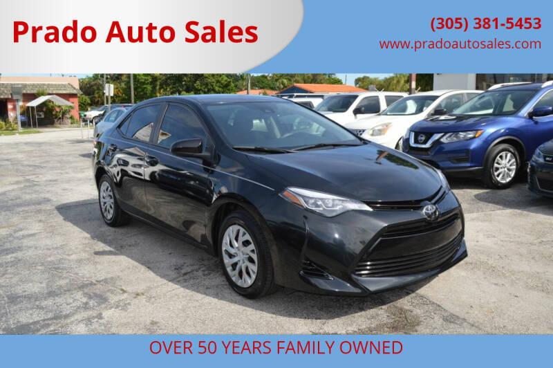 2018 Toyota Corolla for sale at Prado Auto Sales in Miami FL