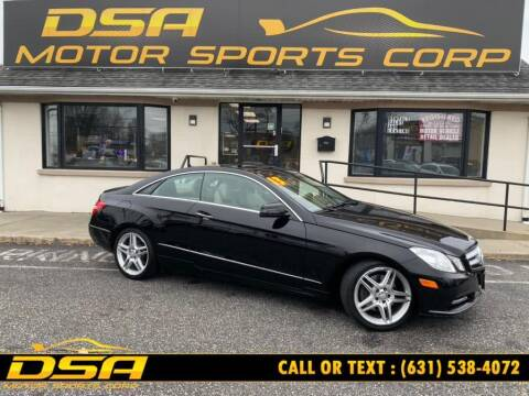 2013 Mercedes-Benz E-Class for sale at DSA Motor Sports Corp in Commack NY