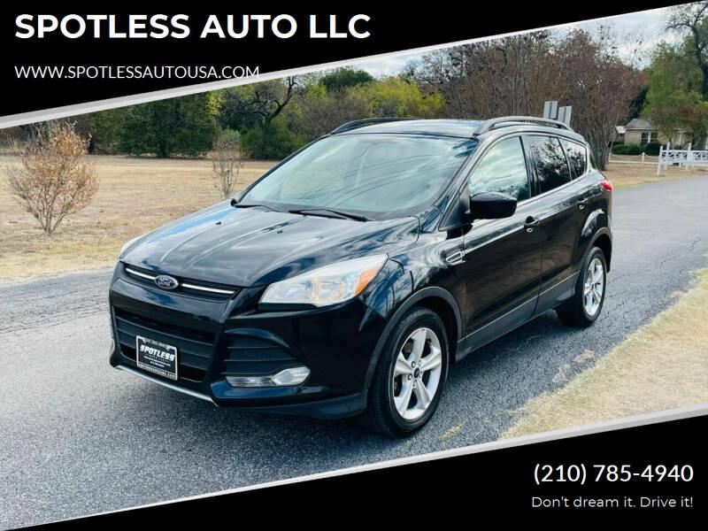 2014 Ford Escape for sale at SPOTLESS AUTO LLC in San Antonio TX