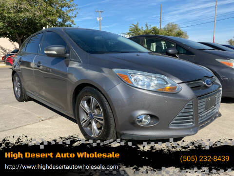2014 Ford Focus for sale at High Desert Auto Wholesale in Albuquerque NM