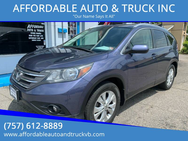 2012 Honda CR-V for sale at AFFORDABLE AUTO & TRUCK INC in Virginia Beach VA