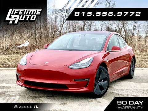 2018 Tesla Model 3 for sale at Lifetime Auto in Elwood IL