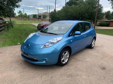 2012 Nissan LEAF for sale at CARWIN MOTORS in Katy TX