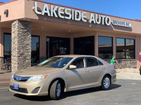 2012 Toyota Camry Hybrid for sale at Lakeside Auto Brokers Inc. in Colorado Springs CO