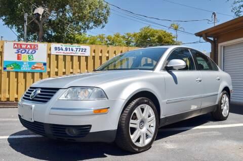 2005 Volkswagen Passat for sale at ALWAYSSOLD123 INC in Fort Lauderdale FL